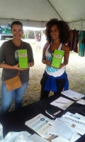 "(BPRW) Partners for the ""Make Healthy Happen Miami"" initiative attended the EcoFest in Liberty City"