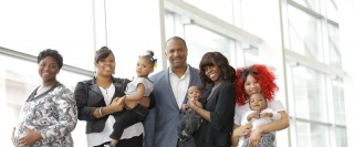 Detroit's Councilman Scott Benson with local moms contributing to the project.  Photo Credit: Robert Deane