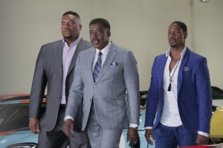 From L-R: Sean Ringgold (Junior Duncan), Ernie Hudson (L.C. Duncan), and Darrin Henson (Orlando Duncan) star in Carl Weber's The Family Business airing Tuesday, November 13 at 9 PM ET/PT on BET