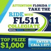 "Take the ""Ride with FL511"" Collegiate Social Media Challenge"