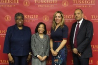 L-R: Roberta Troy, Ph.D., Provost, Tuskegee University; Lily McNair, Ph.D., President, Tuskegee University; Lisa W. Wardell, President and Chief Executive Officer, Adtalem Global Education; William F. Owen, M.D., FACP, Dean and Chancellor, Ross University