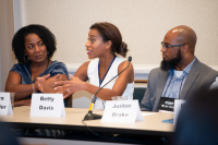 Aventura, Fla.  ̶   Aug. 7, 2019  ̶   Members of the Surviving the Storm Coverage panel shared their experiences and tips with journalists at the 2019 National Association of Black Journalists Annual Convention & Career Fair at the JW Marriott Miami Turnb