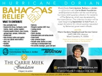 (BPRW) The Carrie Meek Foundation partners with Commissioner Barbara J. Jordan and Experience Aviation to coordinate Hurricane Relief for the Bahamas